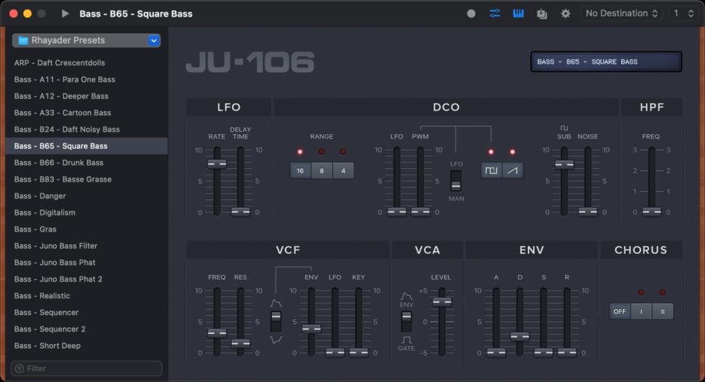 Juno Editor — Roland Juno 106 Preset Editor & Librarian for Mac